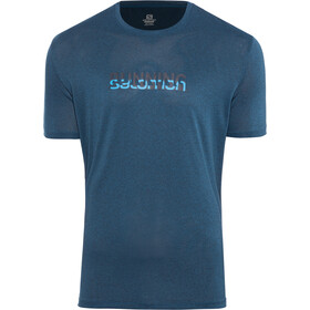 Salomon Agile Graphic Camiseta Hombre, night sky